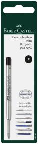 Faber-Castell Ballpoint Refill - Fine - Black (Blister Pack)