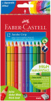 Faber-Castell Jumbo Grip Colouring Pencils - Assorted Colours (Pack of 12)