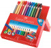Faber-Castell Jumbo Grip Colouring Pens & Pencils - Assorted Colours (Combi Box of 22) - Picture 1