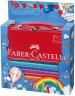 Faber-Castell Jumbo Grip Colouring Pencils - Assorted Colours with Paint Brush & Water Pot - Picture 1