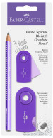 Faber-Castell Jumbo Sparkle Graphite Pencil Set - Purple