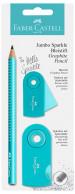 Faber-Castell Jumbo Sparkle Graphite Pencil Set - Turquoise