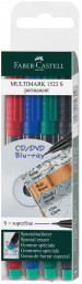 Faber-Castell Multimark Permanent Marker - Super Fine - Assorted Colours (Pack of 4)