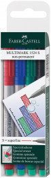 Faber-Castell Multimark Non-Permanent Marker - Super Fine - Assorted Colours (Pack of 4)