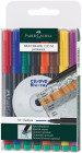 Faber-Castell Multimark Permanent Marker - Medium - Assorted Colours (Pack of 8)