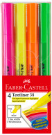 Faber-Castell Textliner 38 Highlighters - Assorted Colours (Wallet of 4)