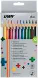 Lamy Plus Colouring Pencils - Assorted Colours (Pack of 12)