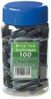Manuscript Ink Cartridges - Washable Blue (Pack of 100)