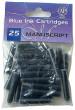Manuscript Ink Cartridges - Blue (Pack of 25)