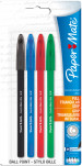 Papermate Comfortmate Ultra Capped Ballpoint Pen - Assorted Colours (Pack of 4)