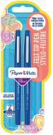 Papermate Flair Original Fibre Tip Pen - Medium - Blue (Blister of 2)