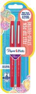 Papermate Flair Original Fibre Tip Pen - Medium - Red (Blister of 2)