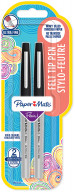 Papermate Flair Original Fibre Tip Pen - Ultra Fine - Black (Blister of 2)