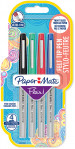 Papermate Flair Original Fibre Tip Pen - Ultra Fine - Standard Colours (Blister of 4)