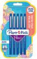 Papermate Flair Original Fibre Tip Pen - Medium - Blue (Blister of 5)