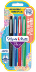 Papermate Flair Original Fibre Tip Pen - Medium - Standard Colours (Blister of 4)