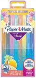 Papermate Flair Original Fibre Tip Pen - Medium - Tropical Colours (Pack of 16)