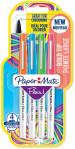 Papermate Flair Original Fibre Tip Pen - Broad - Assorted Colours (Pack of 4)