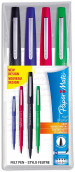 Papermate Flair Original Fibre Tip Pen - Medium - Standard Colours (Pack of 4)