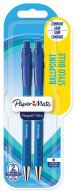 Papermate Flex Grip Ultra Ballpoint Pen - Medium - Blue (Blister of 2)