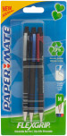 Papermate Flexgrip Ultra Recycled Retractable Ballpoint Pen - Medium - Assorted Colours (Pack of 3)