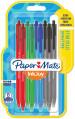 Papermate Inkjoy 100 Retractable Ballpoint Pen - Medium - Standard Colours (Blister of 8)