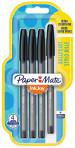 Papermate Inkjoy 100 Capped Ballpoint Pen - Medium - Black (Blister of 4)