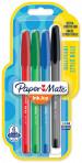Papermate Inkjoy 100 Capped Ballpoint Pen - Medium - Standard Colours (Blister of 4)