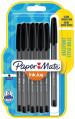 Papermate Inkjoy 100 Capped Ballpoint Pen - Medium - Black (Blister of 8)