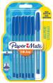 Papermate Inkjoy 100 Capped Ballpoint Pen - Medium - Blue (Blister of 8)