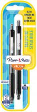 Papermate Inkjoy 300 Retractable Ballpoint Pen - Medium - Black (Blister of 2)