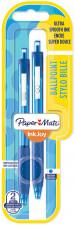 Papermate Inkjoy 300 Retractable Ballpoint Pen - Medium - Blue (Blister of 2)