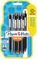 Papermate Inkjoy 300 Retractable Ballpoint Pen - Medium - Black (Blister of 8)