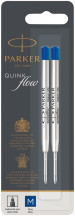 Parker Quink Ballpoint Refill - Blue Medium (Blister of 2)