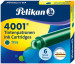 Pelikan 4001 Ink Cartridge - Dark Green (Pack of 6)