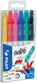 Pilot FriXion Colors Erasable Fibre Tip Pen - Assorted (Pack of 6)