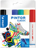 Pilot Pintor Marker Pen - Medium Bullet Tip - Classic Colours (Pack of 6)