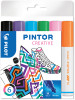 Pilot Pintor Marker Pen - Medium Bullet Tip - Fun Colours (Pack of 6)