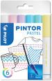 Pilot Pintor Marker Pen - Fine Bullet Tip - Pastel Colours (Pack of 6)
