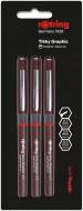 Rotring Tikky Graphic Fineliner Pen - 0.30mm/0.50mm/0.70mm (Pack of 3)