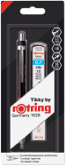 Rotring Tikky Mechanical Pencil - Black Barrel with Leads and Eraser - 0.70mm