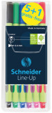 Schneider Line-Up Fineliner Pens - Assorted Colours (Pack of 6)