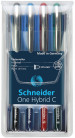 Schneider One Hybrid C Rollerball Pens - 0.5mm - Assorted Colours (Pack of 4)