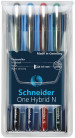 Schneider One Hybrid N Rollerball Pens - 0.5mm - Assorted Colours (Pack of 4)