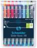 Schneider Slider Basic Ballpoint Pens - Extra Broad - Assorted Colours (Pack of 8)