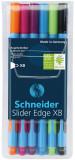Schneider Slider Edge Ballpoint Pen - Extra Broad - Assorted Colours (Pack of 6)