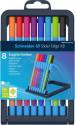 Schneider Slider Edge Ballpoint Pen - Extra Broad - Assorted Colours (Pack of 8)