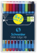 Schneider Slider Edge Ballpoint Pen - Extra Broad - Assorted Colours (Pack of 10)