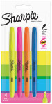 Sharpie Accent Pocket Highlighter - Assorted Colours (Pack of 4)