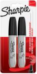 Sharpie Chisel Tip Marker Pens - Black (Blister of 2)